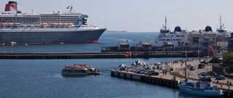 Cruise ship Harbor Elsinore / Helsingør Denmark