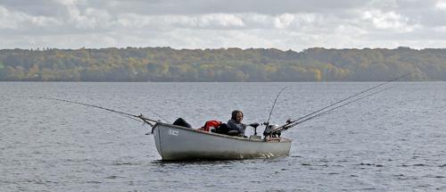 Lystfisker Esrum sø
