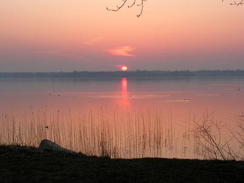 Solnedgang over Esrum sø