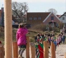 Beach playground in Hornbæk Hornbaek