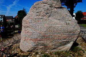 Jelling stenenen Kong Harald Denmark