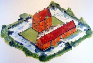 Voldgrave Jægerspris slot Nordsjælland